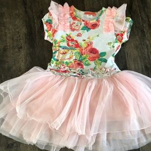 Size 7/8 FUN pink dress by Funkyberry